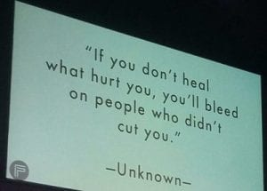 if you don't heal what hurt you